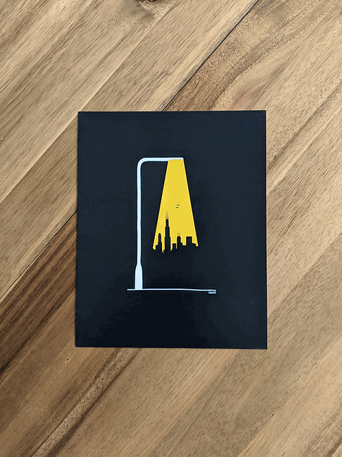 Chicago Street Light - print