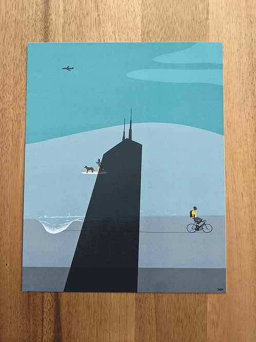 Hancock At Lake Michigan - print