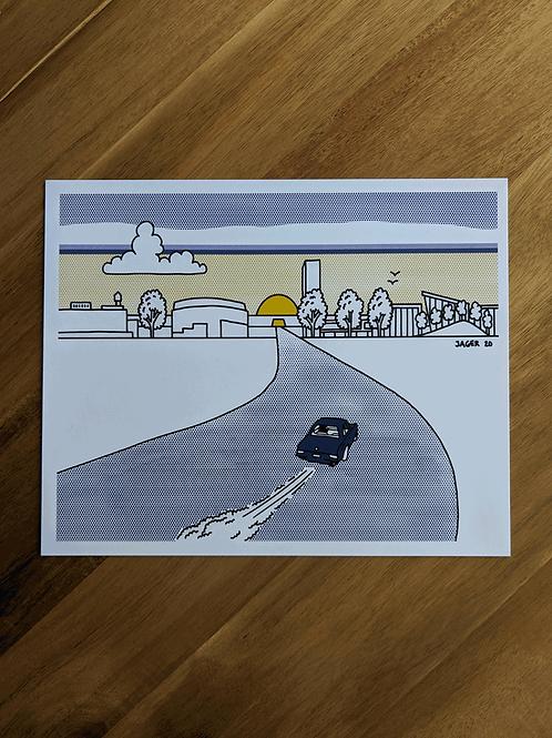 Oklahoma City Boulevard Sunrise - print