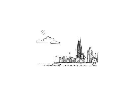 Chicago Skyline Hancock