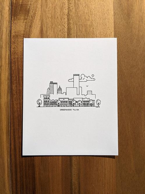 Greenwood Tulsa black/white - print