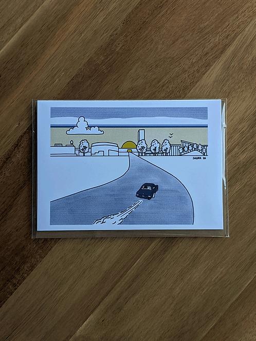 Oklahoma City Boulevard Sunrise - greeting card