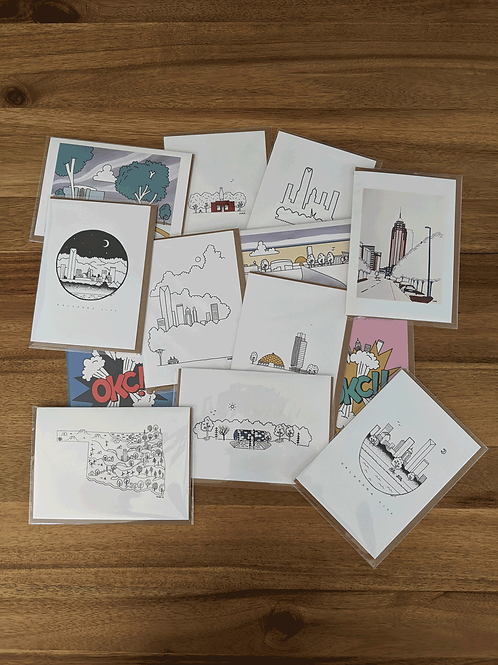 OKC Greeting Card Package (13)