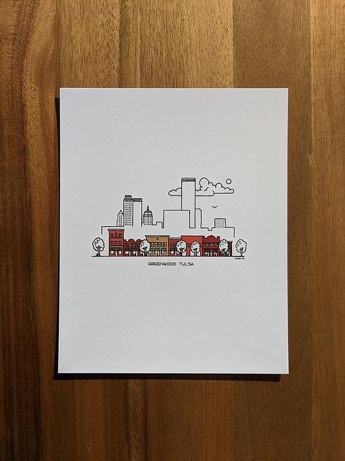 Greenwood Tulsa color - print