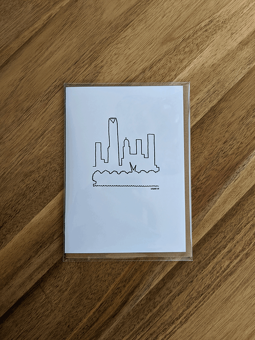OKC Sky LINE - greeting card