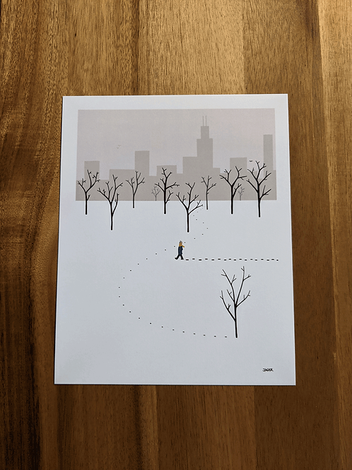 Walk After Snowstorm - 8 x 10in print