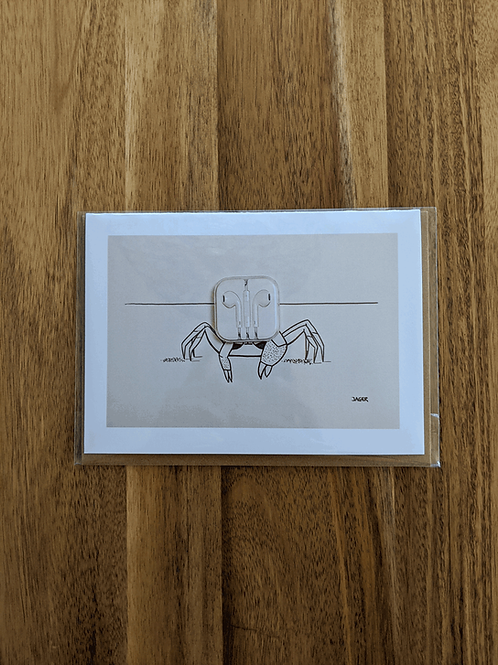 Ghost Crab - greeting card