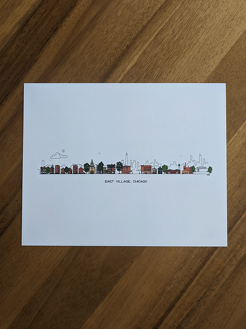 East Village, Chicago - print