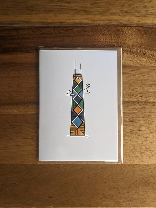 Hancock Tower - greeting card