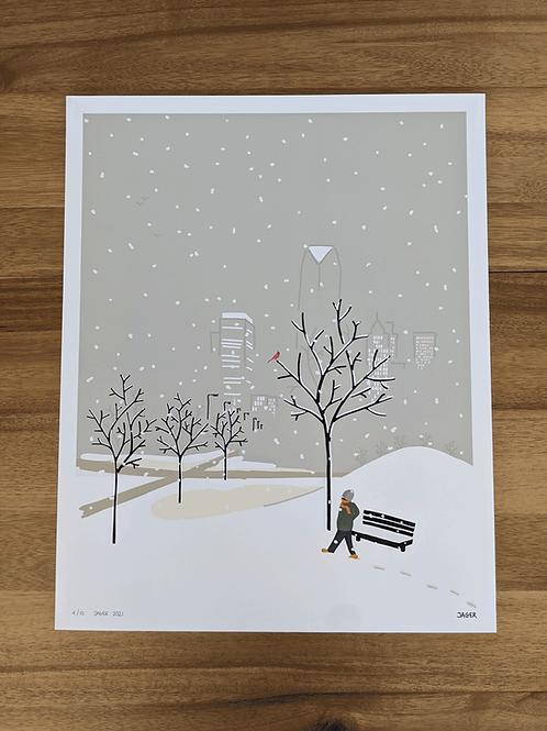 Winterstorm OKC - 16 x 20in LARGE print