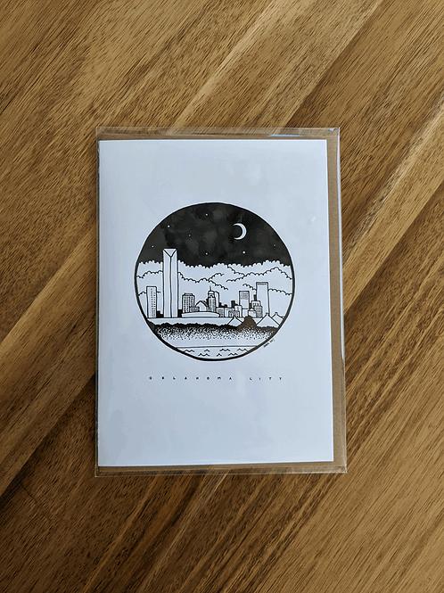 OKC Skyline #5 - greeting card