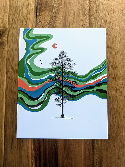 Tree Green Blue Red - print