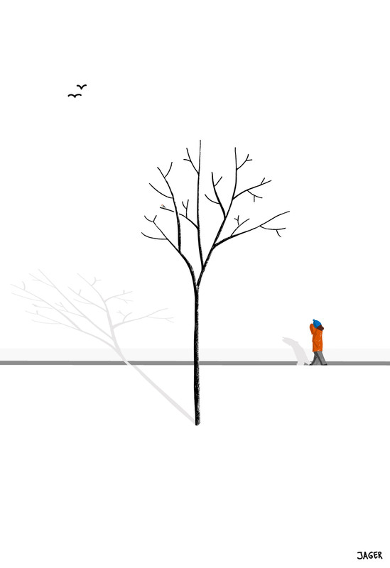 Snow Walk + woodpecker