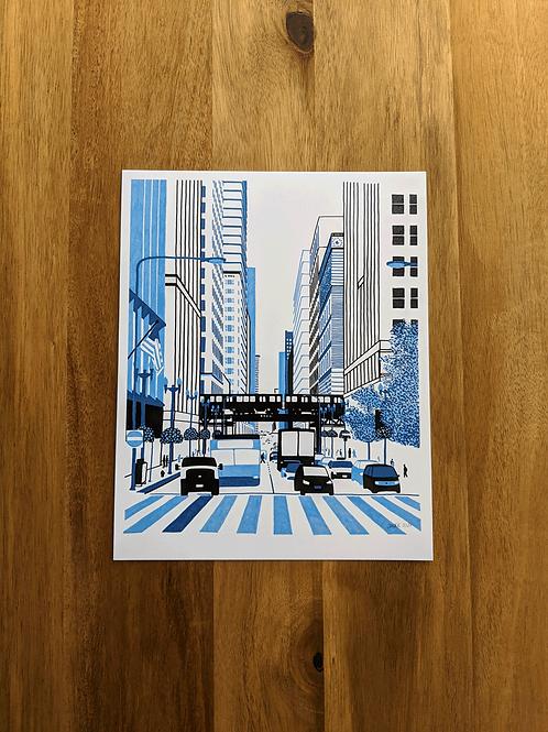 E Washington Street - print