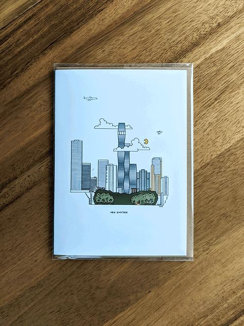New Eastside - greeting card