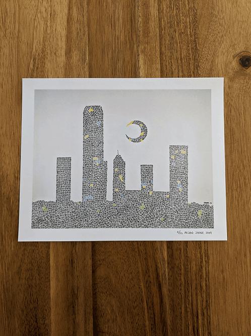OKC Skyline Patterned #1 - Limited Edition