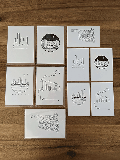 OKC Greeting card & Postcard Package (10)