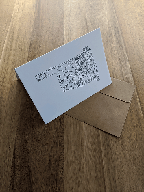 Oklahoma Map 2020 - greeting card