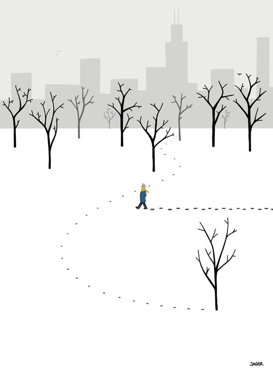Walk After Snowstorm