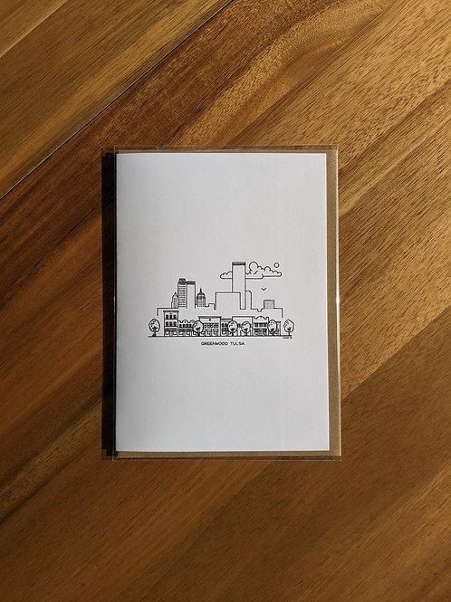 Greenwood Tulsa black/white - greeting card