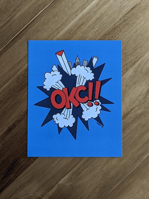 OKC!! Blue Orange - print