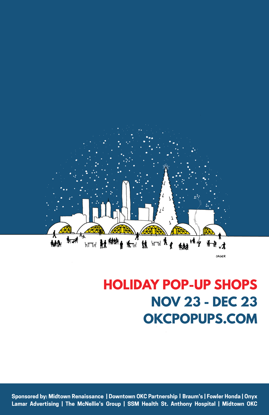 Poster for Holiday Pop-Up Shops