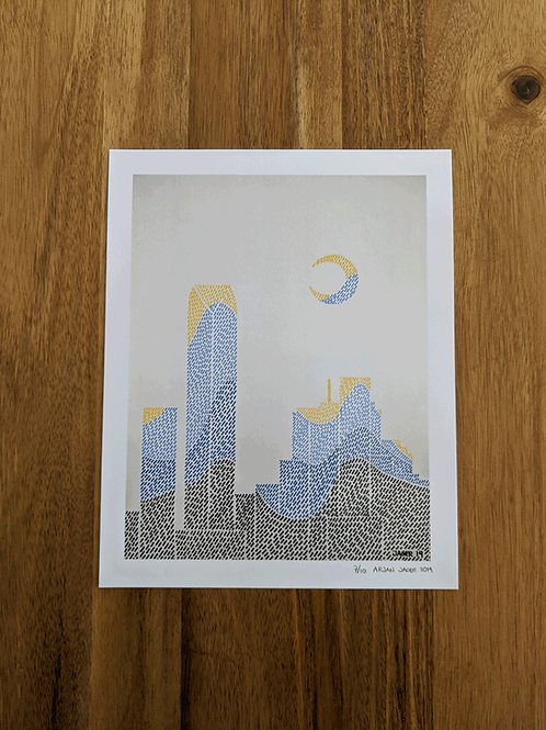 OKC Skyline Patterned #3 - Limited Edition