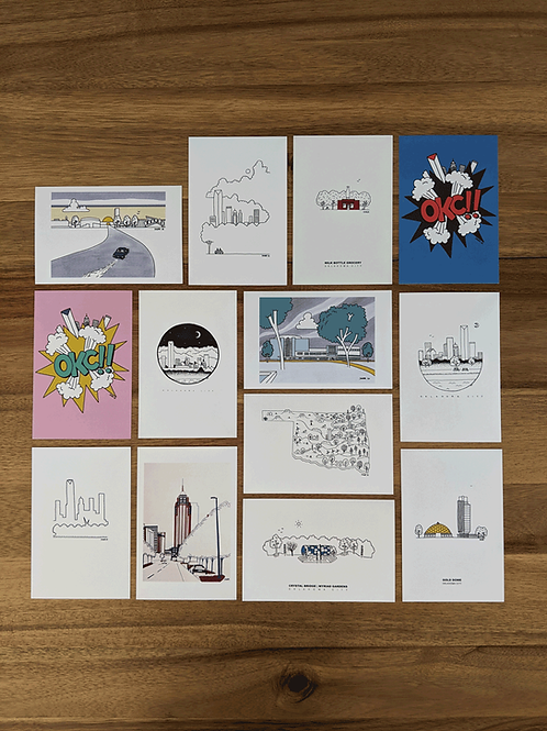 OKC Postcard Package (13)
