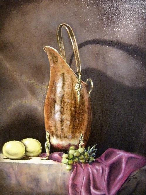 """""""Copper Pot"""" Oil Painting"""