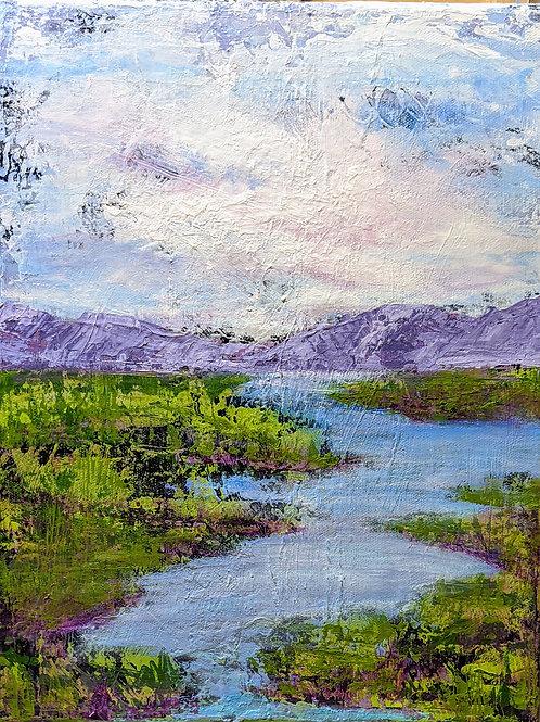 Purple Passage, Acrylic Framed 11.5X14.5