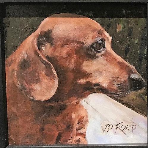 Elvis framed oil painting