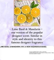 lime, basil and mandarin