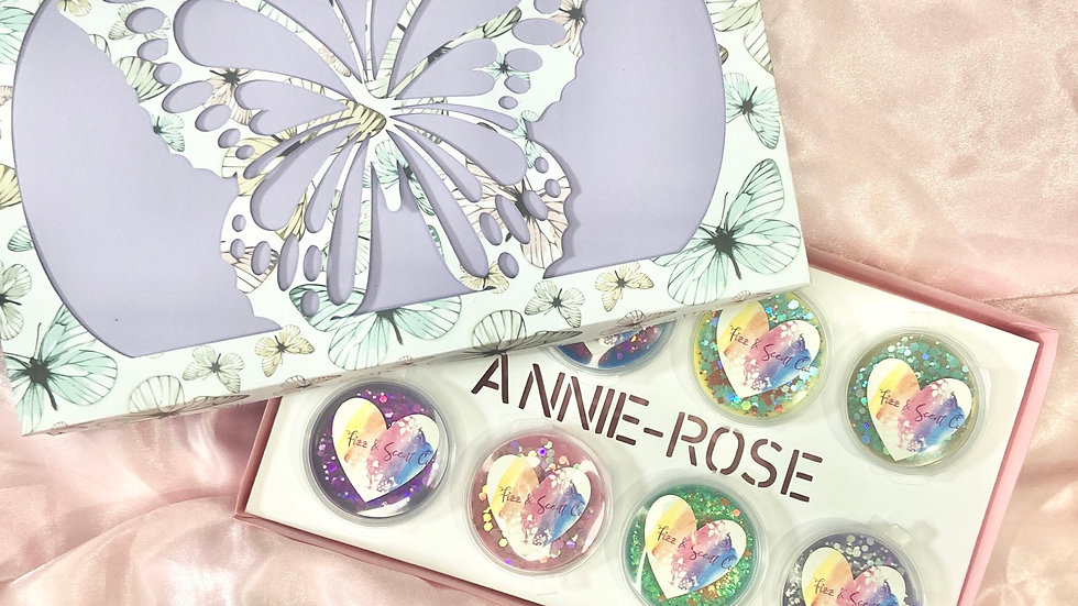 Personalised butterfly sample box