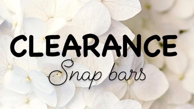 Clearance Snap bars