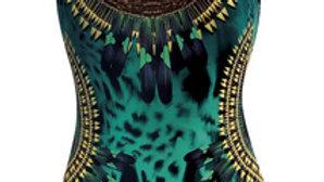 maillot vert à motif plume (Sunflair)