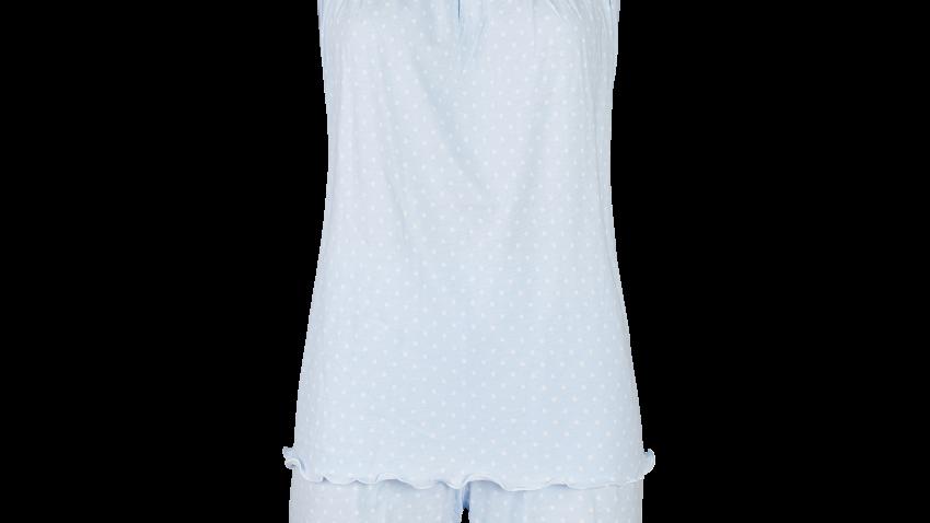 pyjama short bleu à pois