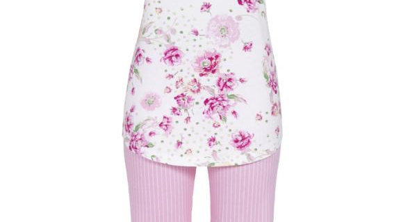 pyjama corsaire rose fleuri