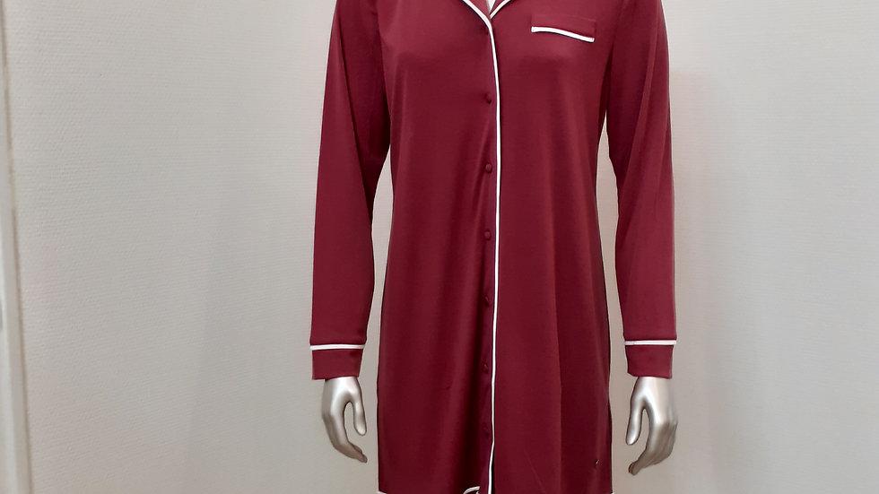 chemise de nuit bordeaux du 38 au 52