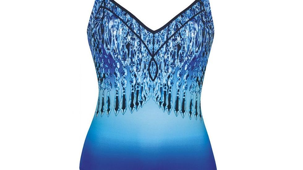 maillot bleu motif cristal (sunflair)