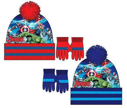 Set gorro y guantes Avengers