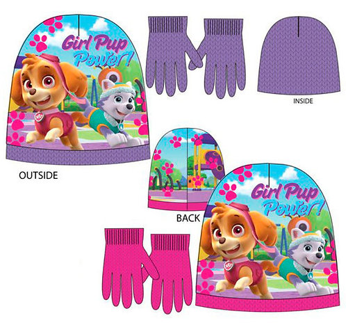 Set gorro y guantes Patrulla Canina