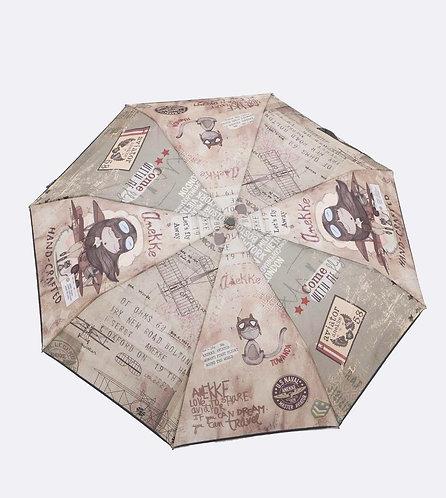 Paraguas manual estilo aviador