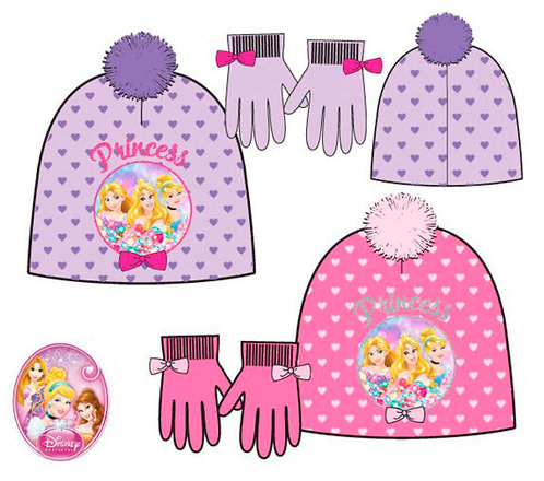 Set gorro y guantes Princess
