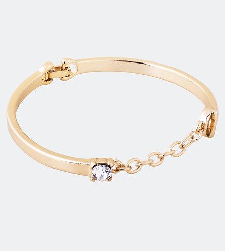 Pulsera con cadena dorada