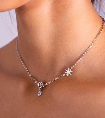 Colgante Estrella con Charms Plata