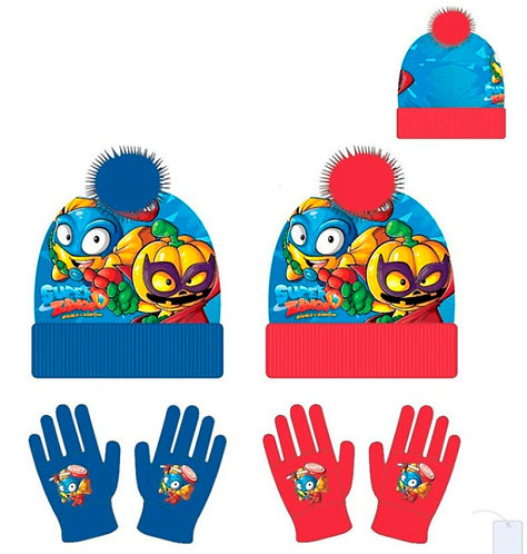 Set gorro y guantes Super Zings