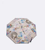 Paraguas manual con colorido vivo