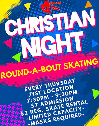 Christian Skate Night - Made with Poster