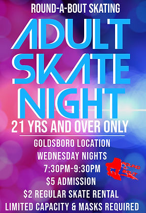 Adult Night Goldsboro - Made with Poster