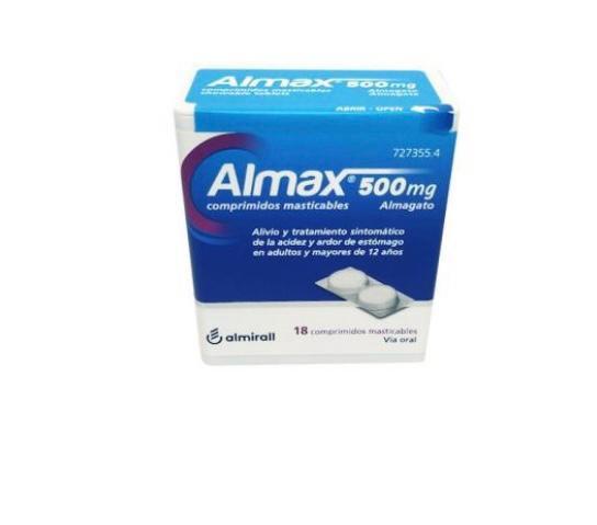 Almax500 Mg 18 Compr Mastic